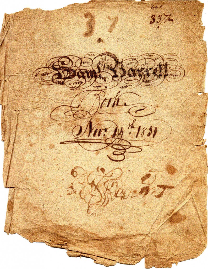 SAM'L BARRETT BOOK Nov. 14th, 1831