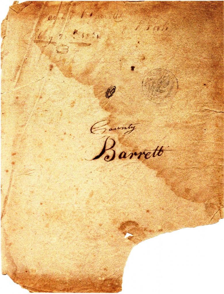 Samuel Barrett's Book May 25th 1831 Wood County Barrett