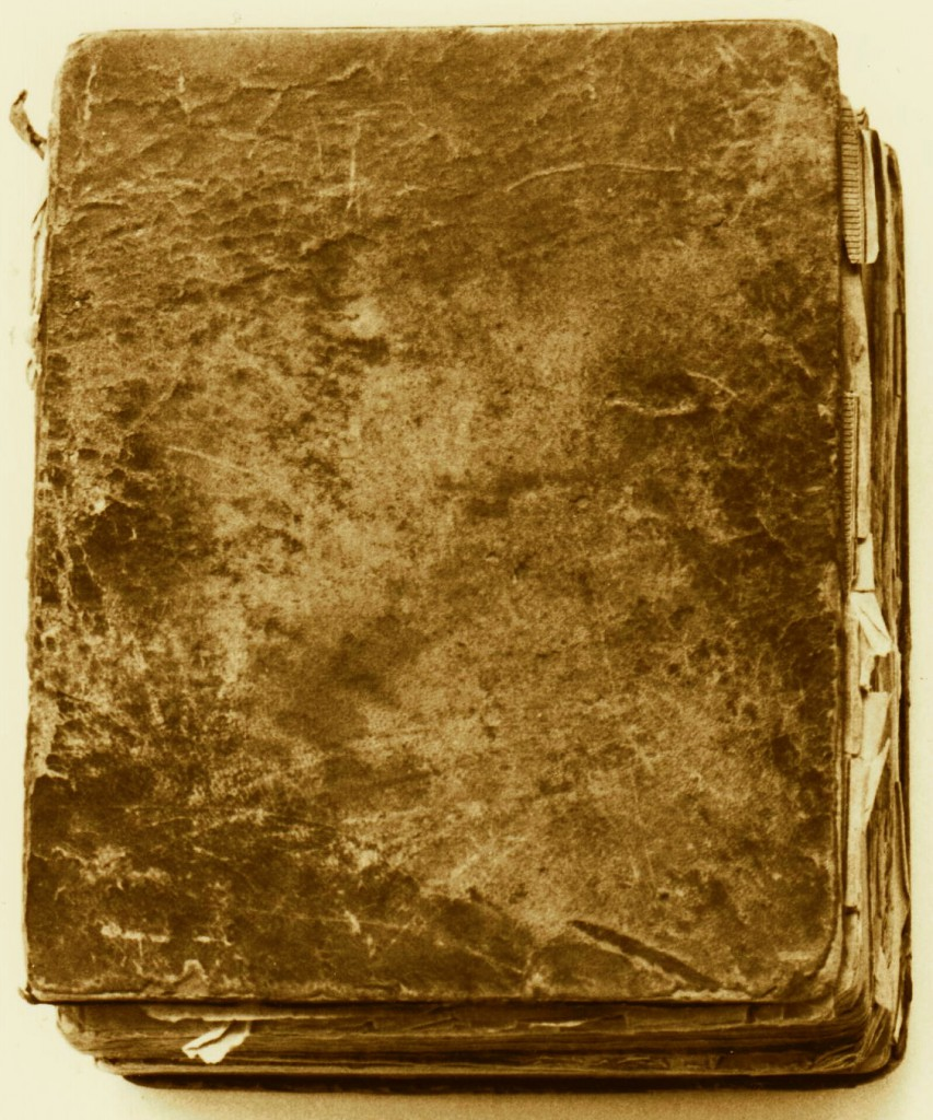 Outside front cover view of Samuel C. Barrett Sr (1758-1838)'s Bible, Parkersburg, Wood County, (West) Virginia, 1831