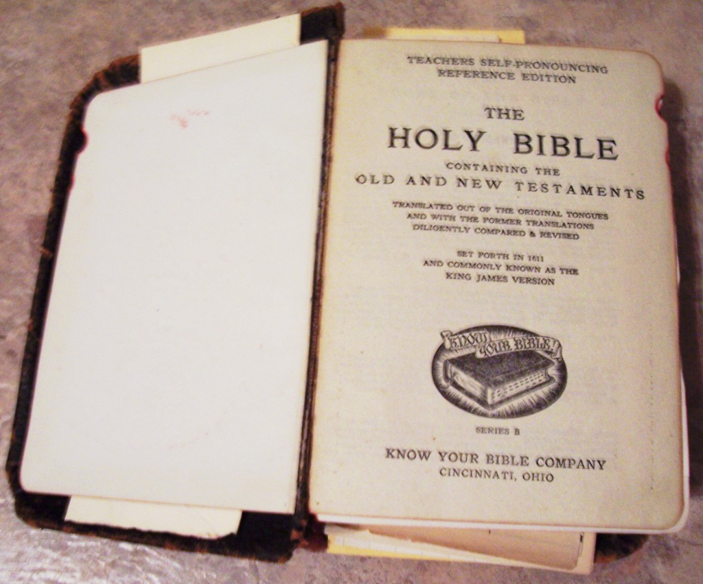 BR10- Gillespie Blaine Eastham (1883-1963)Bible, Pulaski Co., KY, Inside Front cover